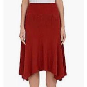 Ulla Johnson for Barneys burnt orange knit skirt L